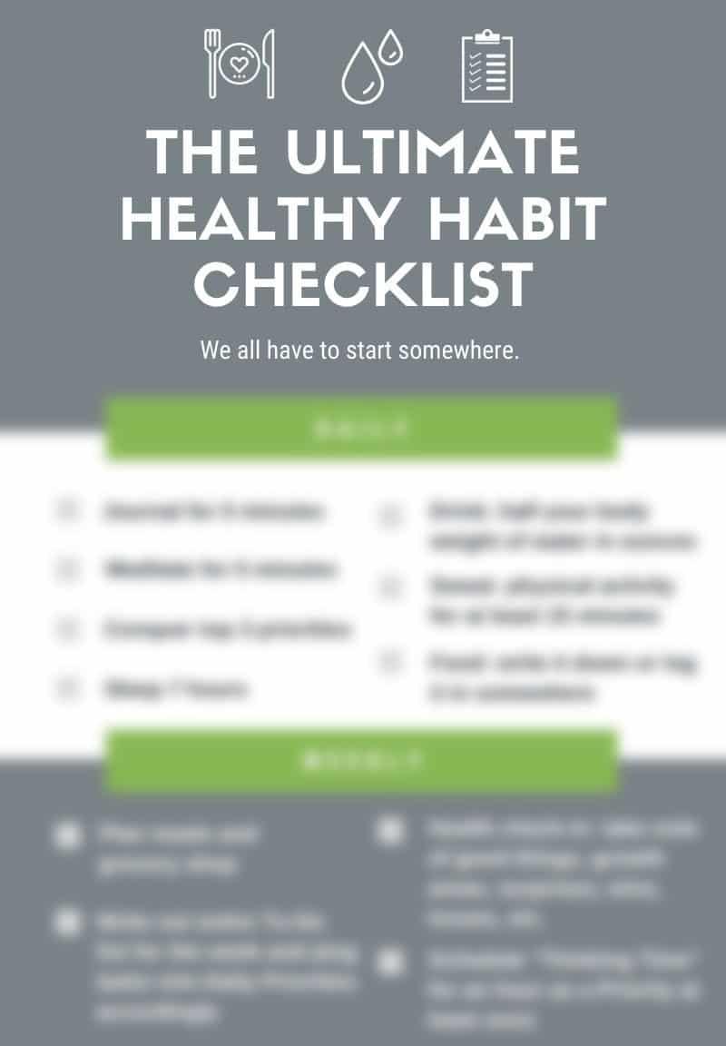The Ultimate Healthy Habit Checklist